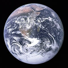 The Earth seen from Apollo 171 Earth Day 2014: 'Conserve' is the word