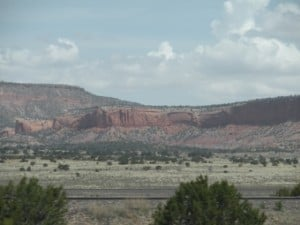 Red rock cliffs in western New Mexico