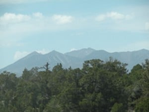 San Francisco Peaks seen from east of Flagstaff, Arizona