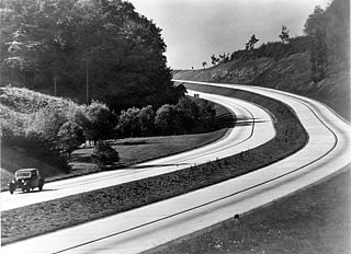 Autobahn in the 1930s in Germany
