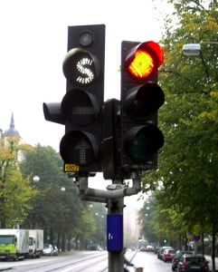 Public transit traffic light, Sweden
